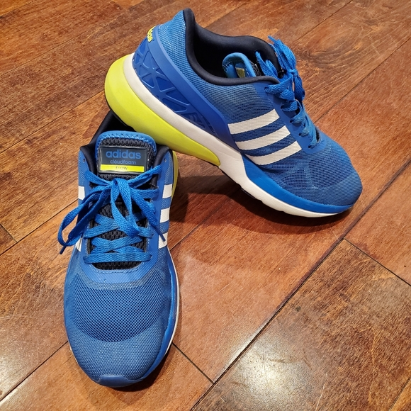 Adidas Neo Cloudfoam Flow Blue/White/Yellow sz 10